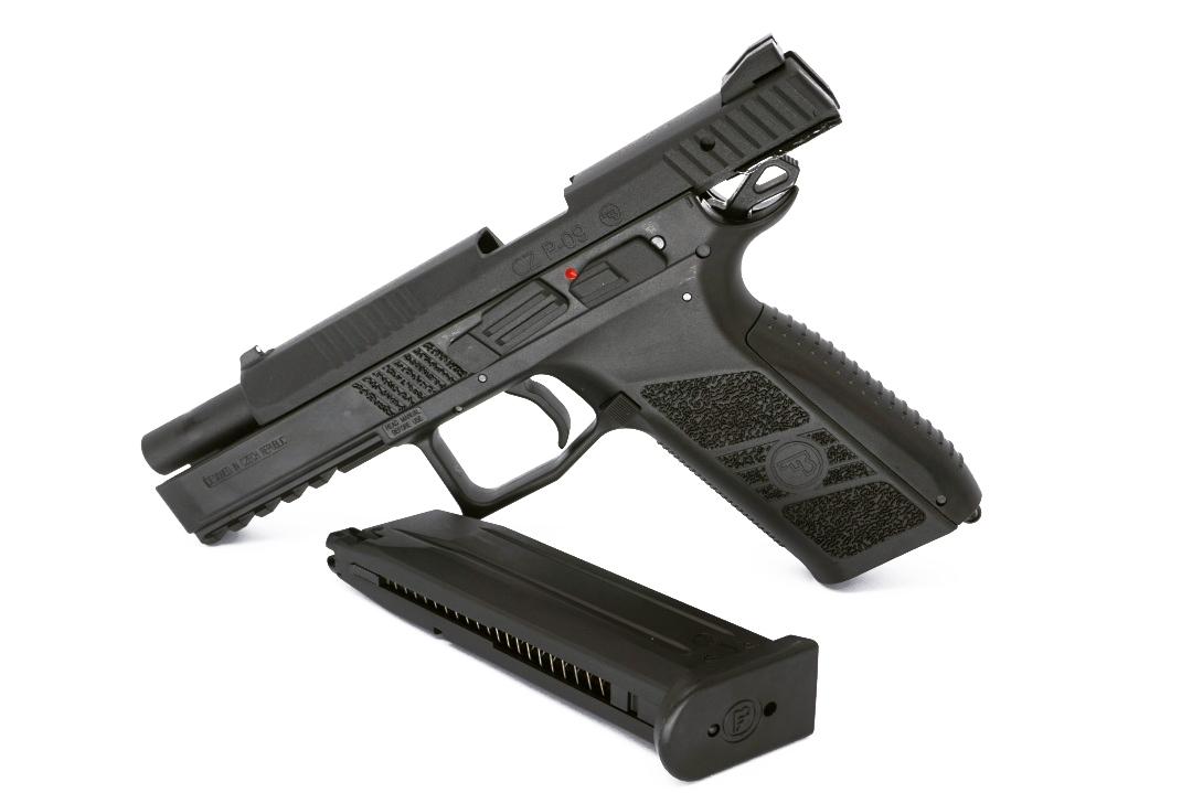 ASG CZ P-09 Black, Cased, Metal Slide