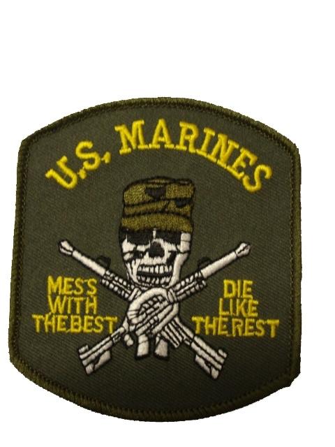 Badge US marines with Skull