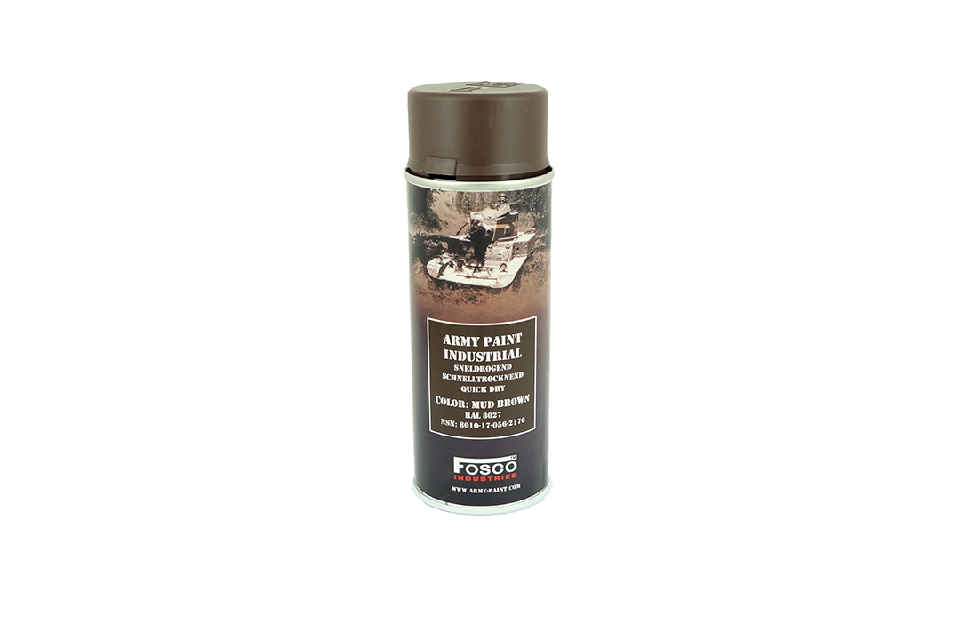 Fosco Spray Can Paint 400ml RAL 8027 Mud Brown