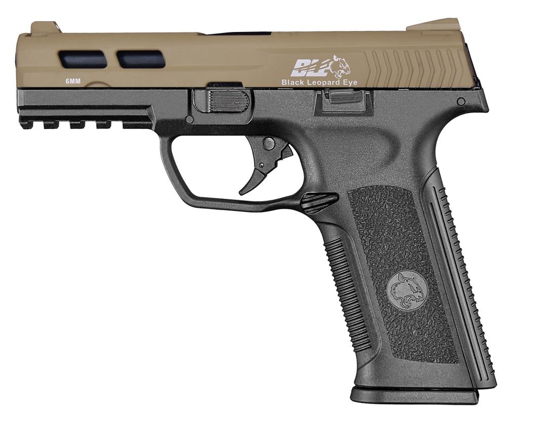 ICS BLE-XAE Gas Blowback Pistol Two-Tone TNBK