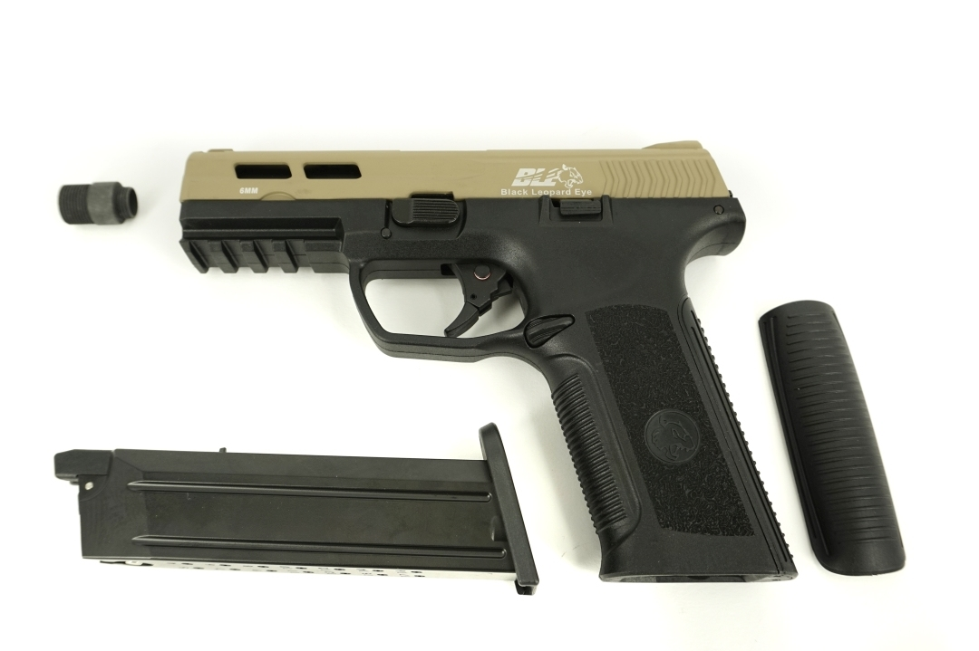 ICS BLE-XAE Gas Blowback Pistol Two-Tone TNBK