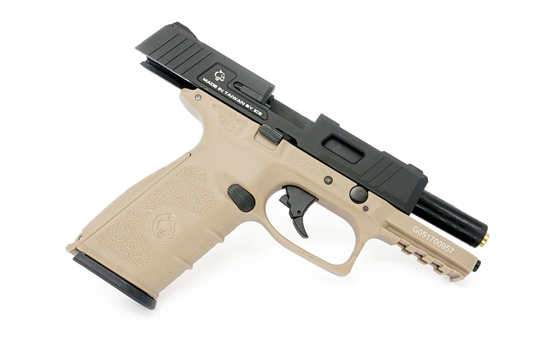 ICS BLE-XFG Gas Blowback Pistol Two-Tone BKTN