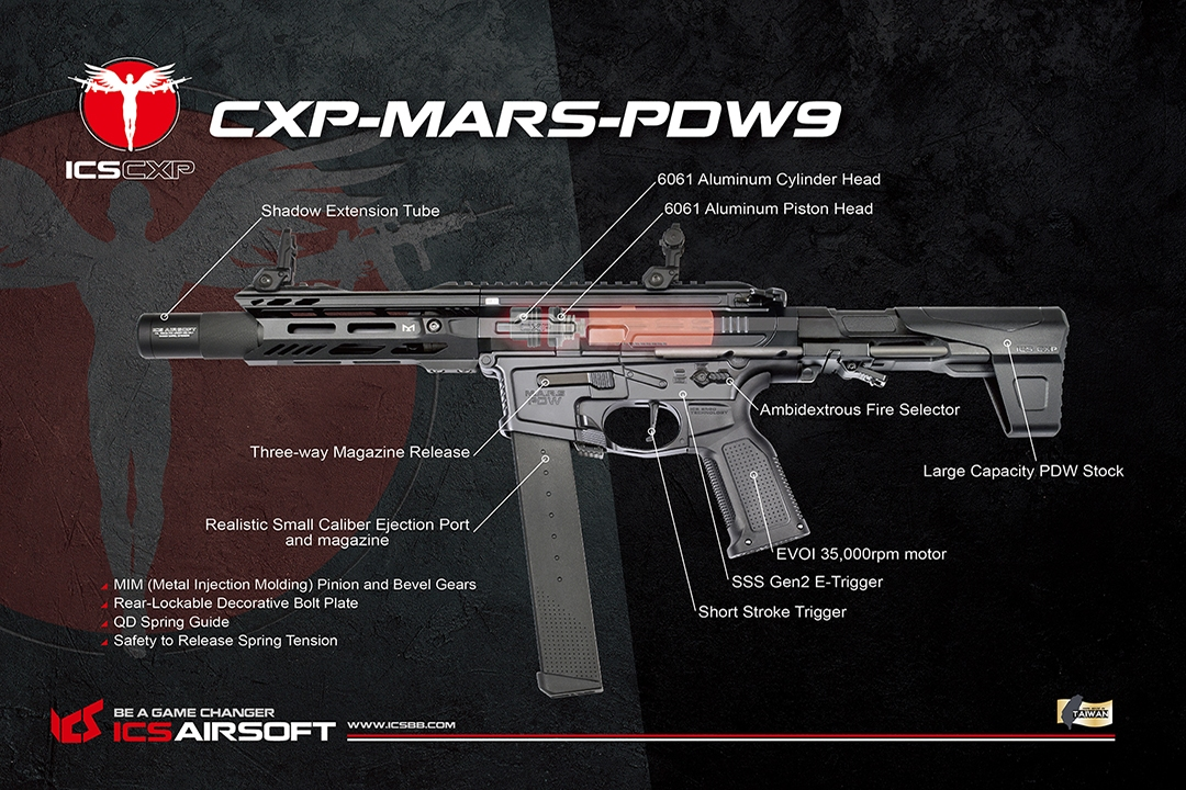 ICS CXP-MARS PDW9 FET Nardo Grey