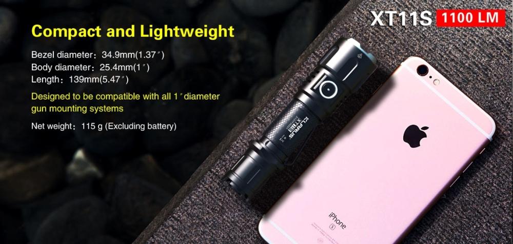 Klarus XT11 S Tactical Flashlight