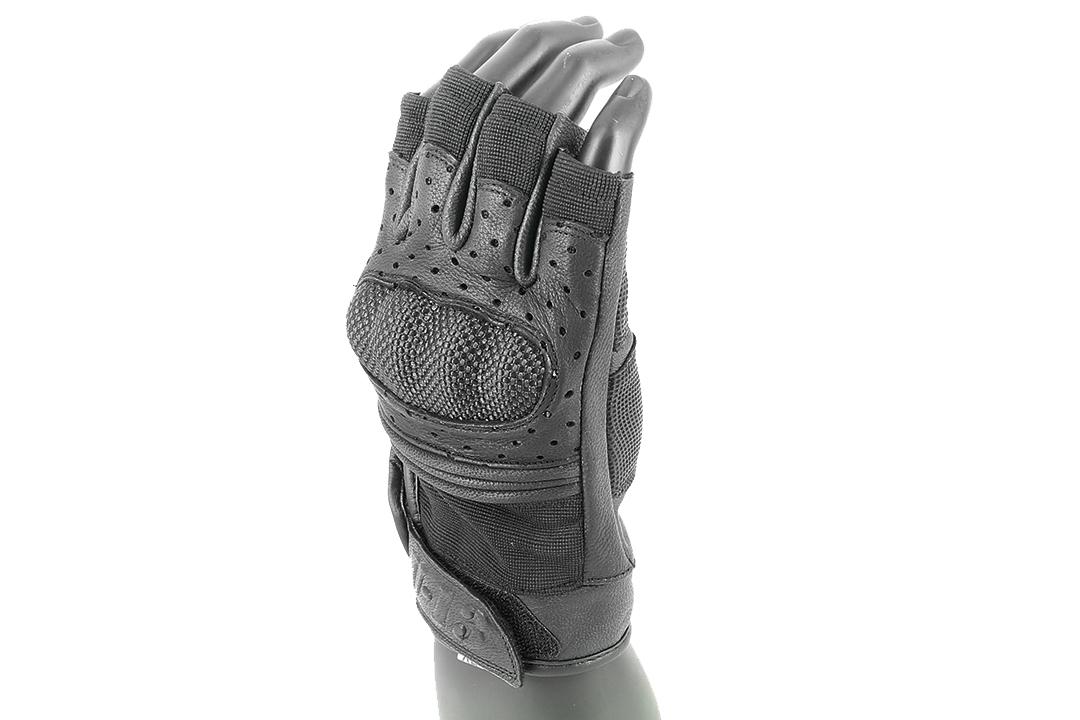 U-13 Tactical Hard-Knuckle Fingerless Gloves (Black)