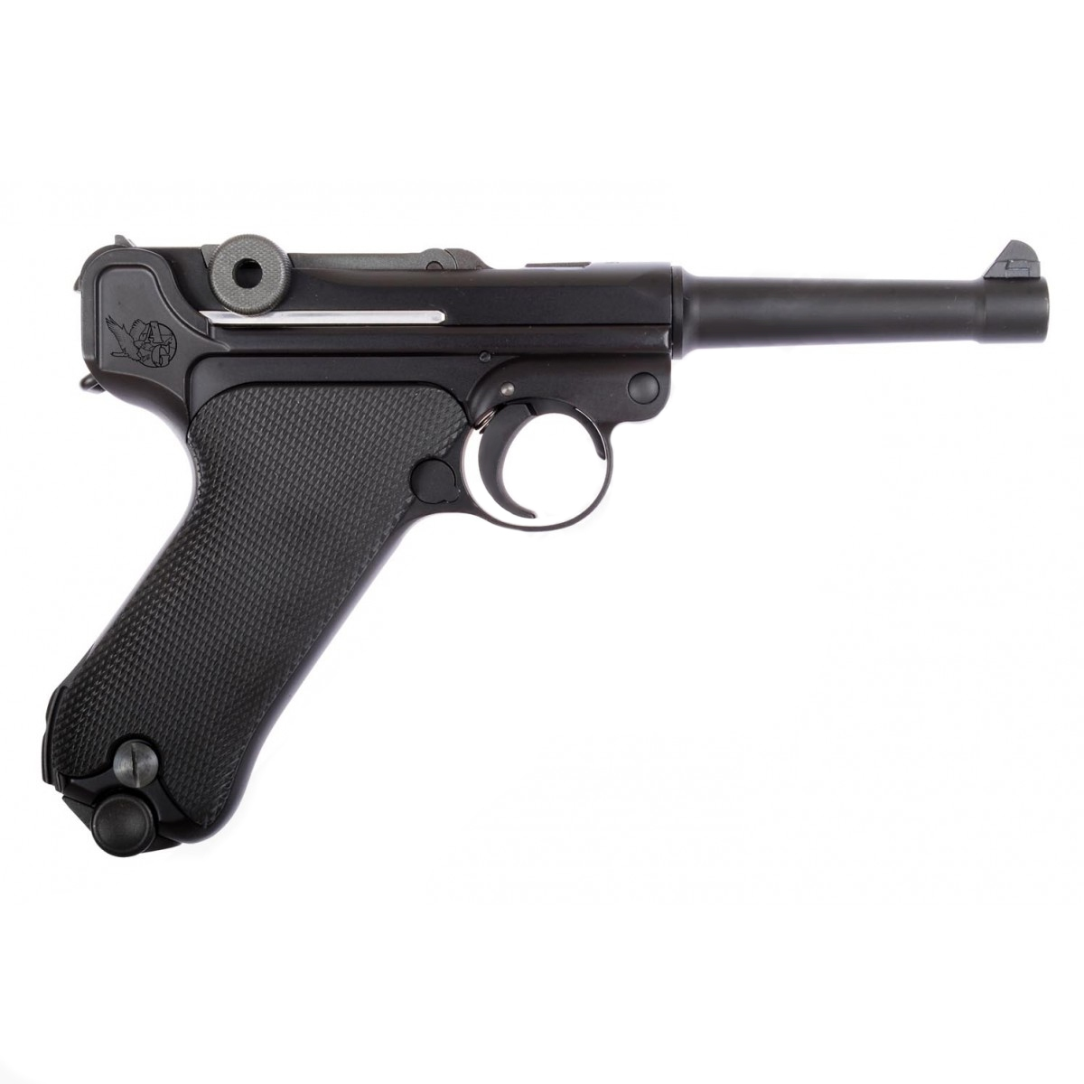 WE-Tech P08 - Luger (S) 4 inch Black
