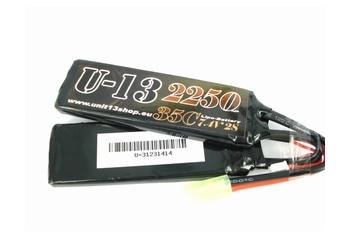 U-13 LiPo 7,4v 2250mAh 35C Split Flat Pack
