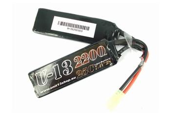 U-13 LiPo 7,4v 2200mAh 25C Split Flat Pack