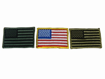 Embroiderd U.S.A Military Flag Patch