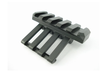 Angled Side Rail Mount Black