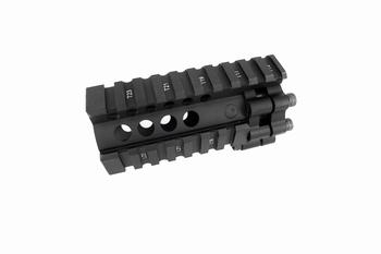 BD LITE Style Aluminum 4 inch RAIL -BK