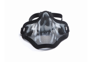 ASG mesh mask met skull print