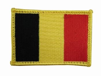 Embleem belgie met klitteband