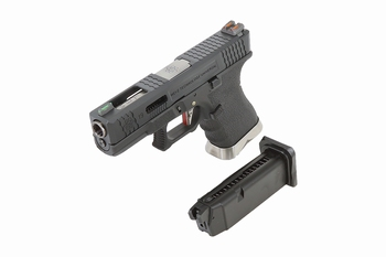 WE-Tech EU-19 T5 Black Slide, Silver Barrel, Black Frame