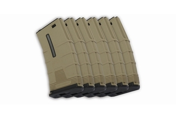 ICS M4 T Low-cap Mag. DE -6pcs/box (45rd)