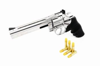 Dan Wesson 715 6 inch Revolver Silver (Low Power) CO2