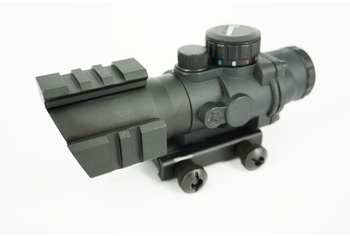U-13 4x32 Triple Rail Tactical Scope, RGB Dot