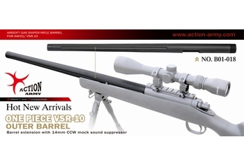 Action Army VSR-10 Fluted Tapered Outer Barrel