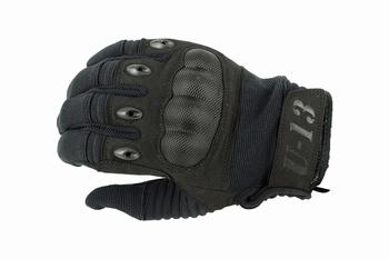U13 Hard Polymer Knuckle Tactical Gloves Black