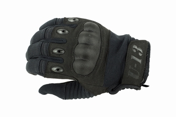 U13 Hard Polymer Knuckle Tactical Gloves Black
