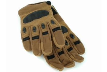 U13 Hard Polymer Knuckle Tactical Gloves Coyote Brown