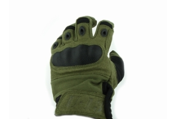 U13 Hard Polymer Knuckle Tactical Gloves Green OD