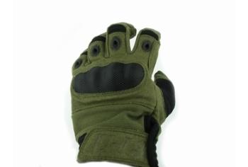 U13 Hard Polymer Knuckle Tactical Gloves Green OD