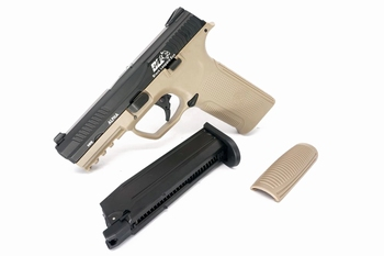 ICS Alpha Gas Blowback Pistol Two tone BKTN