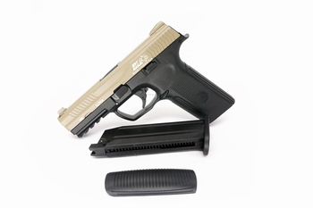 ICS Alpha Gas Blowback Pistol Two tone TNBK
