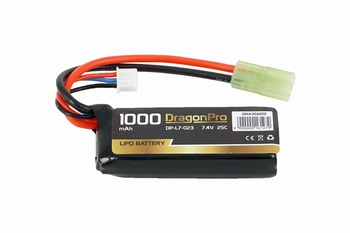 DRAGONPRO 7.4V 1000mAh 25C LiPO (1) 65x24x13mm