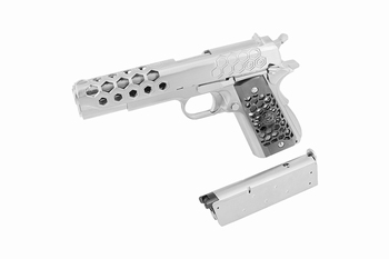 WE-Tech 1911 Hex Cut Gen2 Silver