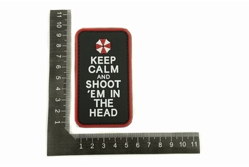 U-13 PVC Patch Keep Calm And Shoot