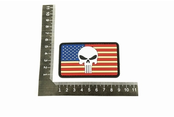U-13 PVC Patch US Flag Punisher