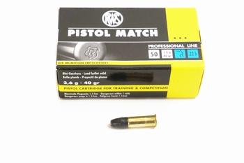 RWS Munition .22 LR RN Pistol Match Professional Line