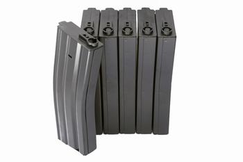 ICS Metal Mid Cap 120rds Mag Black 6pcs/box