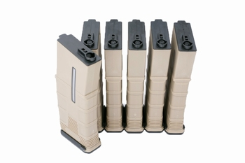 ICS T-Mag Tactical Mid Cap 120rds Tan 6pcs/box