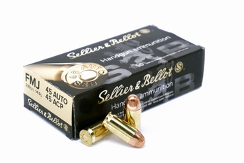 Sellier & Bellot .45 ACP 230 grain FMJ 50rds