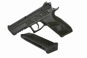 ASG CZ P-09 Black, Cased, Metal Slide
