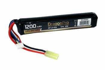 DRAGONPRO 11.1V 1200mAh 20C LiPO (1) 131x22x19mm