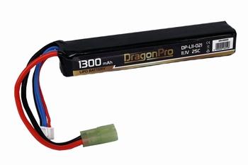 DRAGONPRO 11.1V 1300mAh 25C LiPO (1) 113x23x16.3mm