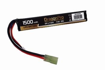 DRAGONPRO 7.4V 1500mAh 20C LiPO (1) 121x20x12mm