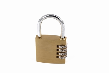 Bushcraft Brass Combination Padlock 40mm