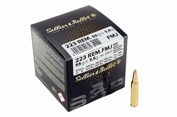 Sellier & Bellot .223Rem FMJ 55grs (100rds)