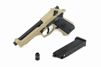 ICS BLE-M9 Gas Blowback Pistol Tan
