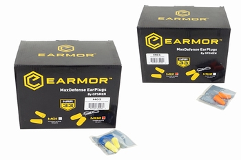 EARMOR M01-M02 MaxDefense Earplugs Box 100pcs