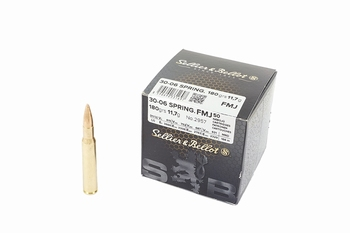 Sellier & Bellot 30-06 Springfield FMJ 180 Grain(50Rds)
