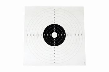 Kruger 25/50m Pistol & 100m Rifle Targets 53x53cm