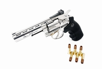 Dan Wesson 4 inch Revolver Silver (High Power) CO2