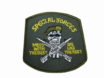 Badge Special forces with skull
