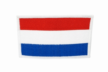 Embleem opstrijkbare nederlandse vlag Groot